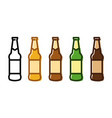 set of a beer bottle icon set vector image vector image