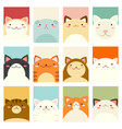 set of banners with cute cats vector image vector image