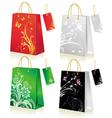 set shopping bag vector image vector image