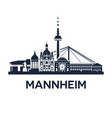 skyline emblem of mannheim city in the vector image vector image