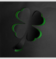 st patricks day background with cloverwhite vector image