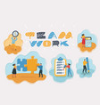 startup and teamwork people occupation vector image vector image