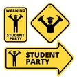 Student party vector image vector image
