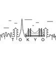 tokyo outline icon can be used for web logo vector image