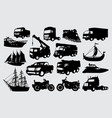 transportation silhouette vector image vector image