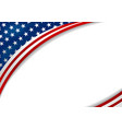 usa or america flag design on white background vector image vector image