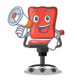 with megaphone character office desk chair in vector image vector image