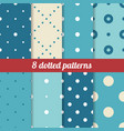 blue dotted patterns vector image