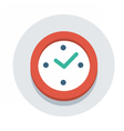 flat icon watch vector image