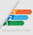 minimal infographics pack image vector image