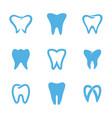 teeth logo white vector image