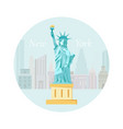 welcome to new york poster with statue of liberty vector image