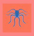 flat shading style octopus vector image