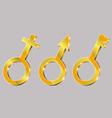 3 symbols vector image vector image