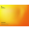 abstract gradient yellow and orange colors with vector image vector image