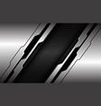 abstract silver black line circuit cyber dark grey vector image vector image