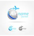 airplane emblem sign plane symbol vector image vector image