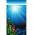 An underwater scenery vector image vector image