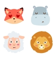 Animal emotion avatar icon vector image