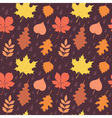 Autumn leaves silhouettes seamless pattern vector image vector image
