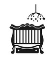 baby cot with laundry box icon simple style vector image