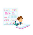 back to school education or learning concept kid vector image