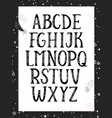 black and white monochrome alphabet vector image vector image