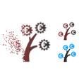 broken pixel halftone euro technology tree icon vector image vector image