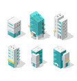 buildings city set isometric top view separate vector image vector image
