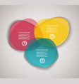 business infographics in circle segments origami vector image vector image