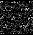 calligraphic love seamless pattern with vignette vector image vector image