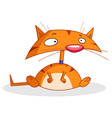 cartoon cat vector image vector image