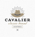 Cavalier Hat Vintage Retro Design Elements for vector image vector image