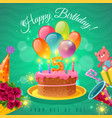 celebration birthday poster vector image vector image