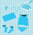 children clothes collection vector image