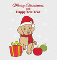 christmas new year greeting card or vertical vector image vector image