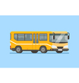 City bus in modern flat style vector image
