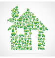 creative green home design vector image vector image
