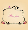cute decorative calligraphic floral frame place vector image vector image