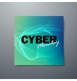 Cyber Monday sale flyer design template vector image vector image