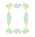 daisy flowers pastel rectangle frame vector image vector image