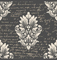 damask seamless pattern element with vector image