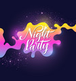 fashion poster night party in abstract style vector image vector image