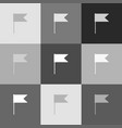 flag sign grayscale version vector image vector image