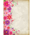 floral background pink vector image vector image