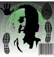 Global monitoring vector image vector image