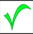 green check mark vector image vector image