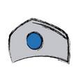 hat nurse accessory uniform medical vector image vector image