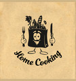 healthy cooking bon appetit cooking idea cook vector image vector image