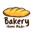 home made bakery shop icon logo vector image